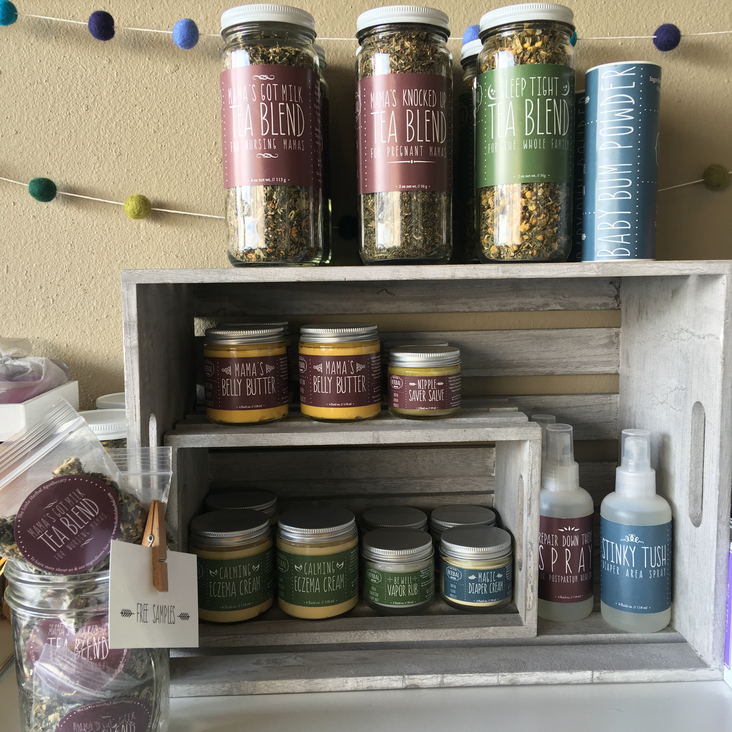 Natural skincare products made locally by The Little Herbal Apothocary